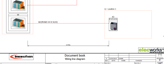 Le dessin du synoptique de câblage dans elecworks
